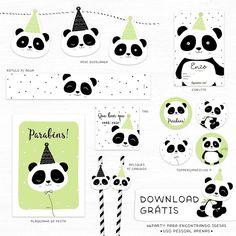 Estou simplesmente apaixonada por nosso Kit Digital Panda feito pela 4Party para os leitores do Blog Encontrando Ideias. A 4Party tem kits lindos para todos os temas. Lindas ideias e muita inspir...
