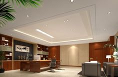 modern design pictures | Chinese style modern minimalist CEO office interior design | 3D house ...
