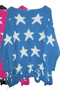 Wildfox White Label Seeing Stars Lennon Sweater in Blue