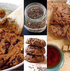 Vegan lavender chocolate chip cookies.