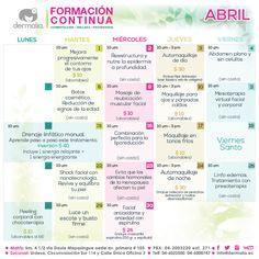 Inscríbete a nuestros talleres de abril. Te esperamos!! #talleres #cosmetologia  #maquillaje #aprende #actualizate