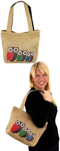 Three Owl Tote at The Animal Rescue Site