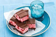 No bake choc cherry slice