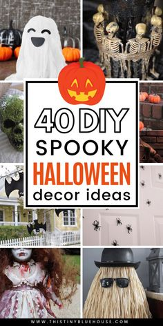 Here are 40 of the very best DIY dollar store Halloween decoration ideas. These easy projects are guaranteed to make Halloween extra spooky this year. #halloweendecor #halloweendecoroutdoor #halloweendecordiy #halloweendecorparty #halloweendecorideas #halloweendecorideas #diyhalloweendecordollarstore #diyhalloweendecoreasy