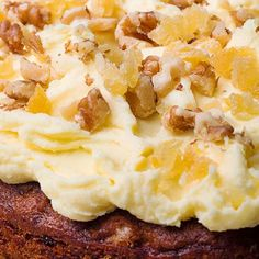 Add intrigue to a classic with Nigella Lawson& recipe for Ginger and Walnut Carrot Cake topped with crystallised ginger, as seen on her BBC series, At My Table.