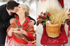Вместо высоких каблуков и шубы,тёплые валенки и русский платок!
