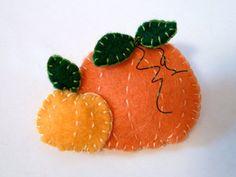 Sweet felt pumpkin patch pin