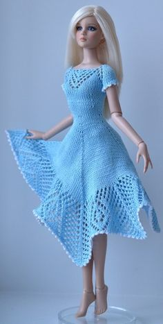 Free Knitting Patterns For Barbie Dolls : free knit barbie doll clothes patterns Knitting Pattern Baby Barbie Doll &a...