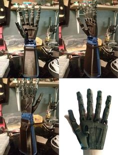 3D printed Robot Hand, available on KickStarter. These guys hope to make robotic arms easily available for less than a thousand dollars, working out of a garage!