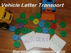 vehicle activities for letter d  @ There's Just One Mommy
