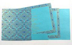 Indian Wedding Card: Online Store blue