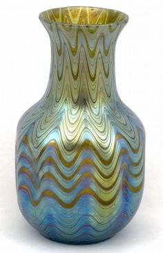 US $5,699.00 The shape of this vase was already 1898 documented. The decor phenomen genre 6893 is one of the earliest and most famous decors the art glass studio Loetz Witwe Klostermühle ever designed. It was very popular and was user on more than 150 blueprints. This vase, in particular, has eight imprints on the side, which is very rare and unusal. Really a very beautiful vase and a perfect example of bohemian craftmanship at the turn of the century.