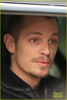 Joel Kinnaman Looks Leather Jacket Cool on 'The Killing' Set: Photo Joel Kinnaman works his leather jacket while filming on the set of The Killing on Thursday (March in Vancouver, Canada. The actor chatted on a… Swedish Men, Swedish American, Pretty Men, Gorgeous Men, Beautiful, Joel Kinneman, Altered Carbon, Robert Sheehan, Interesting Faces