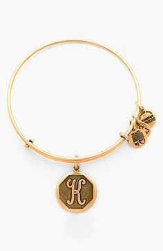 Alex and Ani 'Initial' Adjustable Wire Bangle available at #Nordstrom