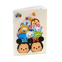 Disney Tsum Tsum A5 Notebook | Disney StoreTsum Tsum A5 Notebook - Take notes in the company of those adorable Tsum Tsums! This A5 notebook features a transparent cover overlay, printed with artwork of favourite Disney stars given a quirky Tsum Tsum twist.
