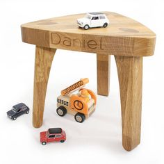 Personalised Children's Oak Christening Stool