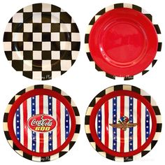 The Sunday before Memorial Day is always a day I spend in front of the TV watching motorsports. The day always starts with breakfast watch. Party Themes, Party Ideas, Memorial Day, Tablescapes, Monster Trucks, Plates, Memories, Cars, Autos