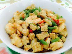 Tumis udang buncis dan tahu  one of breakfasting menu