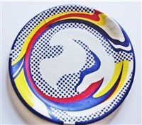 SCREENPRINTED PAPER PLATE, 1969–1971