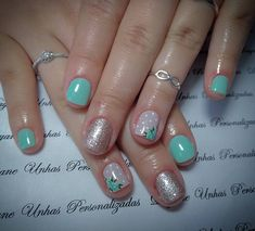 Simple Nails, Nail Arts, Spring Nails, Beauty Nails, Pretty Nails, Pedicure, Hair And Nails, Nail Art Designs, Blue Nails
