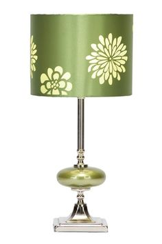 Luxe Living Furniture & Decor  Green Metal and Glass Table Lamp