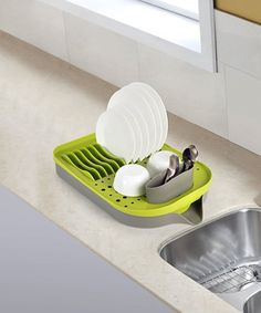 This Green Aira Dish Rack is perfect! #zulilyfinds