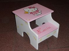 Hello Kitty Kids Step Stools  two steps Girls by cvhdesigns1, $64.99