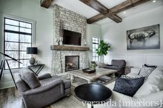 veranda interiors the rustic beams with the clean white moldings