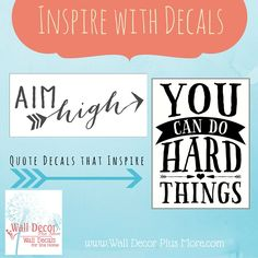 New Year, new goals! Inspire yourself and others with our quality vinyl products! Check out our fashionable selection.