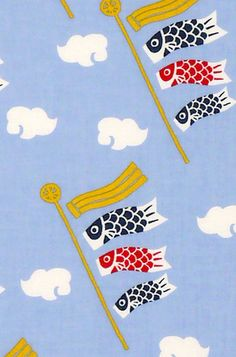 Japanese Tenugui Towel Cotton Fabric, Carp Streamer, Children's Day, Boy's Festival, Fish, Hand Dyed, Art Wall, Home Decor, Headband, JapanLovelyCrafts