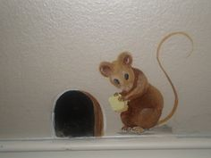 Been wanting to paint a mouse hole for a long time.....I think I like this :)