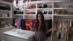 Kyle Richards Closet -  I like the shelves.
