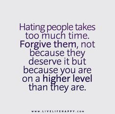 Hating People Takes Too Much Time