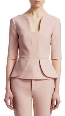Roland Mouret Women's Bayford Peplum Top – blackhouse. Formal Tops For Women, Suits For Women, Peplum Top Outfits, Peplum Blazer, Peplum Dresses, Peplum Tops, Myanmar Dress Design, Business Professional Attire, Womens Dress Suits