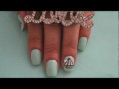 Diamond Nail Art - YouTube