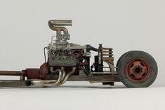 John Tolcher Weather Models, Plastic Model Cars, Dieselpunk, Rat, Hot Wheels, Panther, Hot Rods, Tractors, Modeling