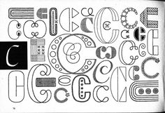 idea of C  Handbook of Lettering for Stitchers by The Ultimate Pits, via Flickr