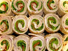 Turkey Pinwheel Appetizers. Only 100 Calories per serving!!! #LowCalorie #Appetizers #Snack