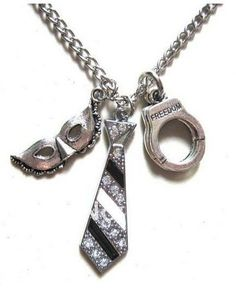 50 Fifty Shades of Grey Charm Necklace