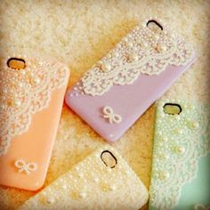 """...not sure where these """"DIY Phone Cases""""  are in this post, but these are beautiful cases."""