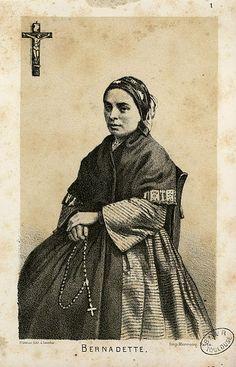 St Bernadette Soubirous   http://www.saintnook.com/saints/bernadettesoubirous   File:Bernadette - Fonds Ancely - B315556101 A GORSEANDRE 002.jpg