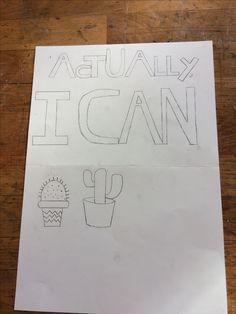 Vandaag heb ik mijn tekst geoefend en een paar cactussen. Tekst vind ik best moeilijk, de cactussen gingen wat makkelijker. Ik ga cactussen maken, omdat ik vind dat dat voor je mening opkomen staat en voor pittig.