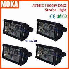 742.00$  Buy here - http://alicqe.worldwells.pw/go.php?t=32688618692 - 4Pcs/lot Atomic Xenon DMX 3000w strobe light flash effect Auto DMX led strobe light disco  For Club KTV Bar Disco Show