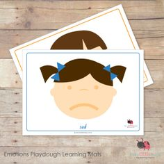 Emotions Playdough Learning Mats Feelings Preschool, Emotions Activities, Playdough Activities, Motor Activities, Autism Resources, Feelings And Emotions, Early Childhood, Teaching Kids, Play Dough