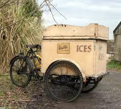 1920s walls bicycle ice cream cart