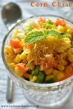 Corn chaat is a quick and easy recipe to satiate cravings for chaat any time. This masala corn is one of the best corn recipes I have tried Indian Snacks, Indian Food Recipes, Quesadillas, Tostadas, Best Corn Recipe, Masala Corn, Chats Recipe, Vegetarian Snacks, Vegetarian Starters