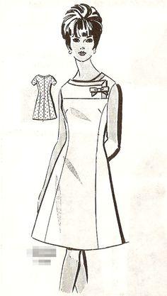 Patt-O-Rama vintage pattern - 1960's sheath dress - 14. $12.95, via Etsy.