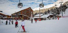 Close access to the slopes, at Meribel Ski Resort, France