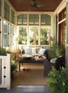 Beautiful sun room perfect for summer afternoons and winter mornings.