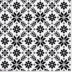 Old Norwegian knitting pattern - redrawn